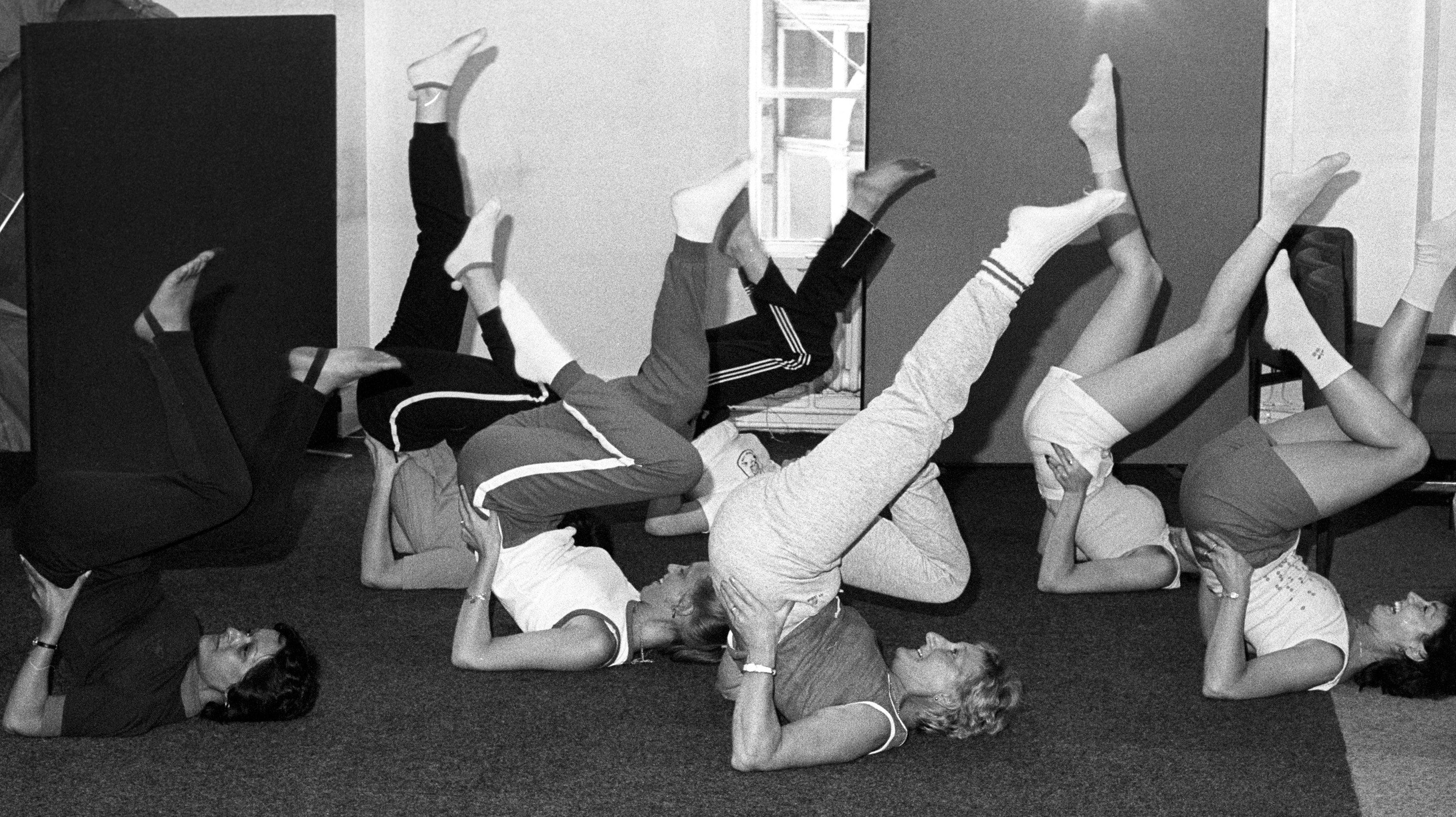 Think fitness is a new trend? These amazing photos of old gyms and workout classes prove otherwise