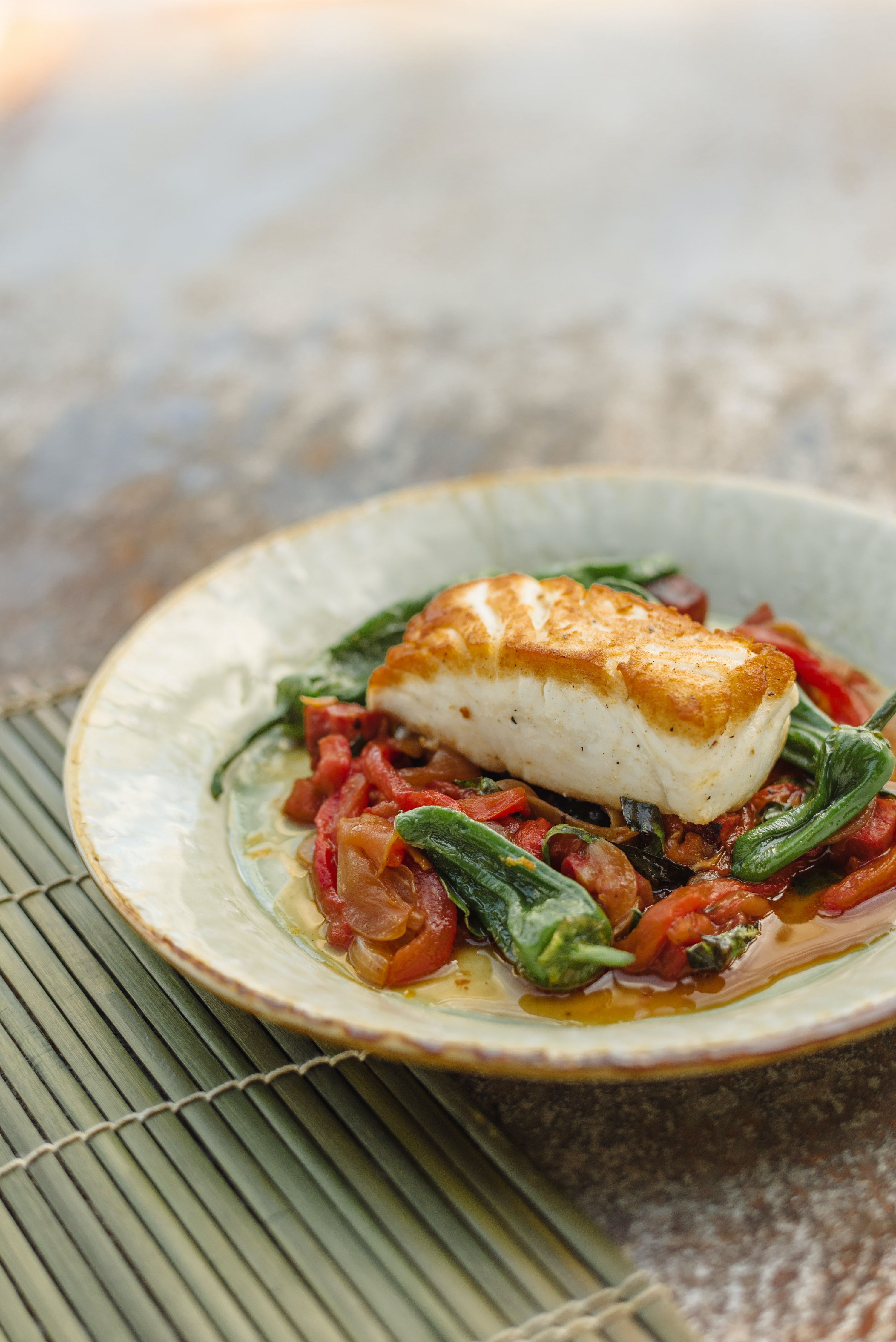 How to make Tom Kitchin's halibut, red pepper and chorizo